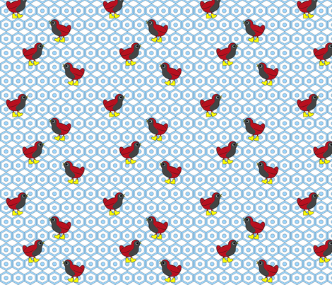 Wandering Birds (Blue) fabric by jmaranez on Spoonflower - custom fabric