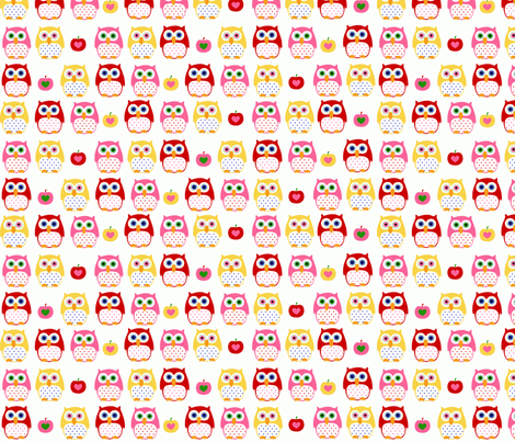 summer owls fabric by katharinahirsch on Spoonflower - custom fabric