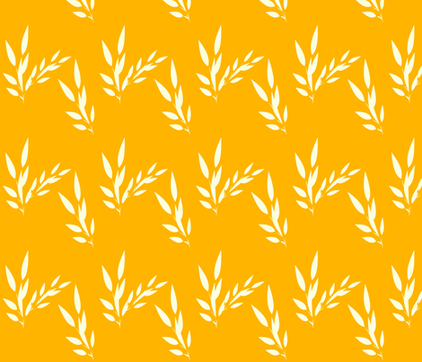 leaves fabric by dreamwhisper on Spoonflower - custom fabric