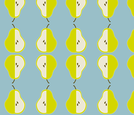 pear_edited-1_copy fabric by dreamwhisper on Spoonflower - custom fabric