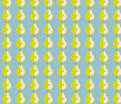 Pear Repeat fabric by dreamwhisper on Spoonflower - custom fabric