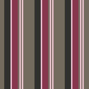 Pink and Mocha Stripe