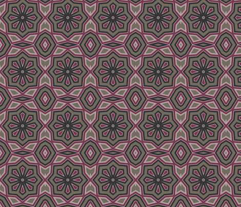 Pink & Mocha Abstract Floral fabric by dreamwhisper on Spoonflower - custom fabric
