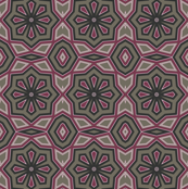 Pink & Mocha Abstract Floral