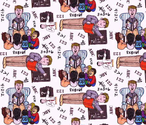 teacherartwork fabric by thegiltreys on Spoonflower - custom fabric