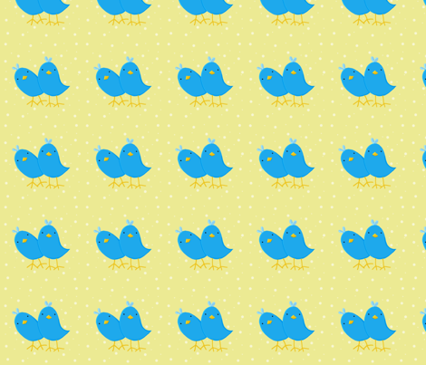 Quizzical_Birds fabric by highoncraft on Spoonflower - custom fabric