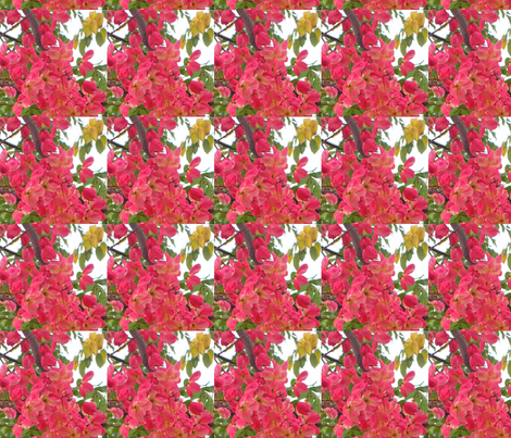 MirroredFlowers#1 fabric by hairsprayhon on Spoonflower - custom fabric