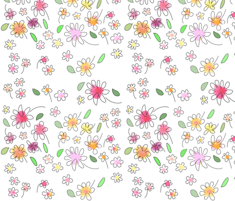 SPRING FLOWERS fabric by soobloo on Spoonflower - custom fabric