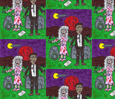 zombieartwork fabric by thegiltreys on Spoonflower - custom fabric