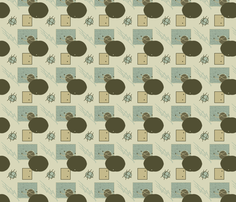 P_Q_Abstract_1_tan fabric by rennata on Spoonflower - custom fabric
