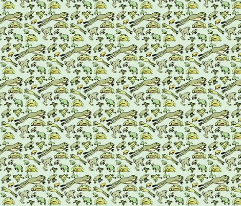 leap frog fabric by laurawilson on Spoonflower - custom fabric