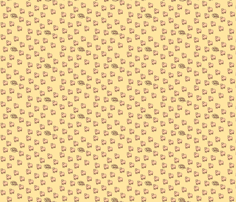 baa baa pink sheep fabric by laurawilson on Spoonflower - custom fabric