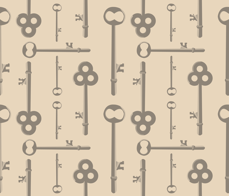 SIlver Keys -- putty fabric by nightgarden on Spoonflower - custom fabric
