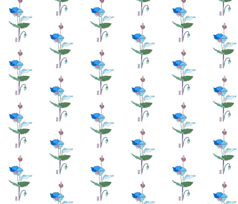 dr2c_blue_poppy_ADJ2_noframe_chopJOUR_copy fabric by mina on Spoonflower - custom fabric