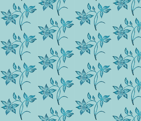 tjapflower1-ltgrn fabric by mina on Spoonflower - custom fabric