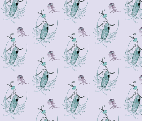 Chimeric Mermaid fabric by nalo_hopkinson on Spoonflower - custom fabric