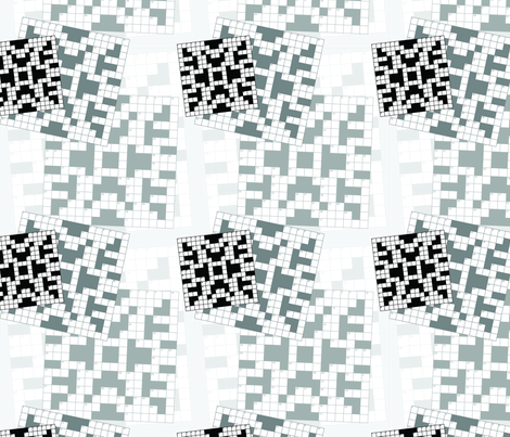 Crossword Puzzle fabric by studiofibonacci on Spoonflower - custom fabric