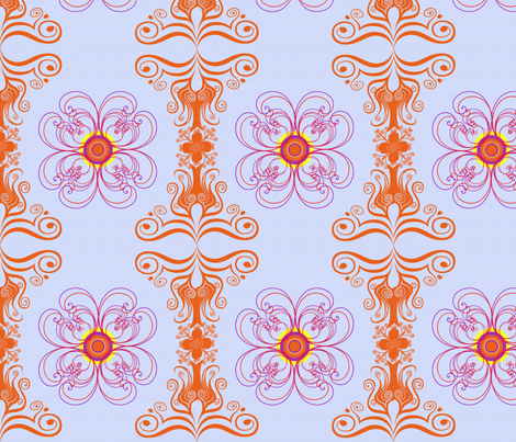 tile_orange_blue fabric by snork on Spoonflower - custom fabric