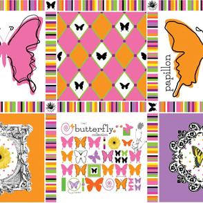 Grand Flight Pattern Panel for Baby Quilt by Ellen Medlock Studio