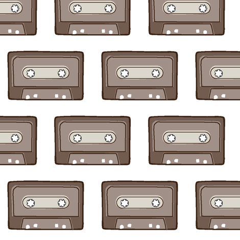 audio_cassette_tape fabric by daniellerenee on Spoonflower - custom fabric