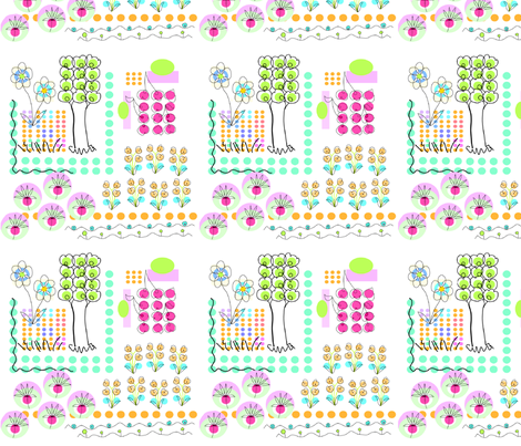 HOW DOES YOUR GARDEN GROW? fabric by soobloo on Spoonflower - custom fabric