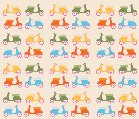 SCOOTERS2 fabric by berryjane on Spoonflower - custom fabric