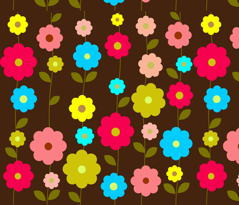 Flowers_background_high fabric by berryjane on Spoonflower - custom fabric