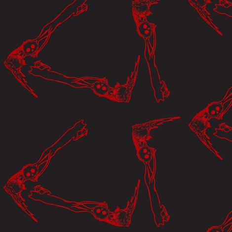 Catskull fabric by nalo_hopkinson on Spoonflower - custom fabric