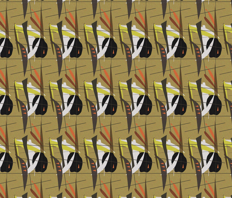 tiki headhunter fabric by rasputin on Spoonflower - custom fabric