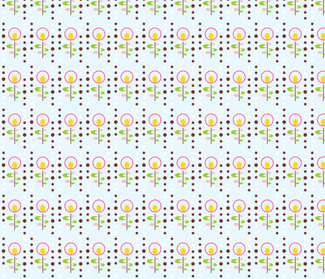 modflower fabric by mytwobabes on Spoonflower - custom fabric