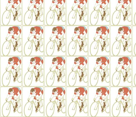 Art_Nouveau_cyclist fabric by kristenmary on Spoonflower - custom fabric