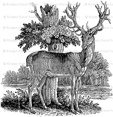 deer_woodcut