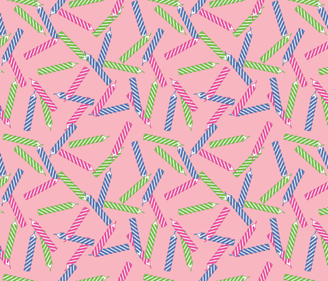 birthday-candles_pink fabric by ophelia on Spoonflower - custom fabric