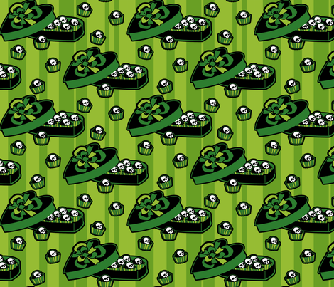 skull-candy-box_green fabric by ophelia on Spoonflower - custom fabric