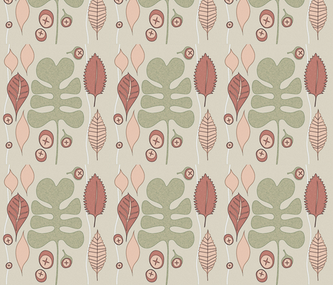 orange_leaves fabric by ssalzberg on Spoonflower - custom fabric