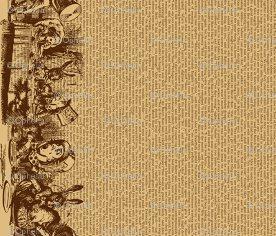 Alice Vintage Border and Text (brown)