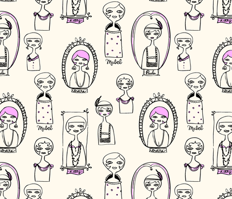 dolls fabric by rexgirl on Spoonflower - custom fabric