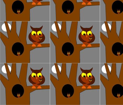 OwlHome fabric by spool_{} on Spoonflower - custom fabric