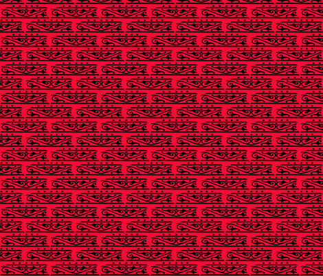 Red Black Scroll fabric by nalo_hopkinson on Spoonflower - custom fabric