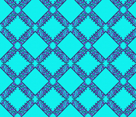 Blue Purple Scroll fabric by nalo_hopkinson on Spoonflower - custom fabric