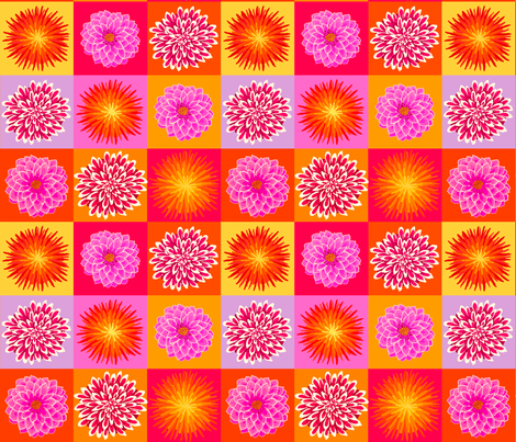 dahlia fabric by lfntextiles on Spoonflower - custom fabric