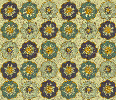 auricula_crochet_teal fabric by lfntextiles on Spoonflower - custom fabric