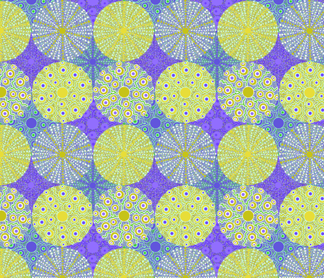 sea_urchins_serpentine_10 fabric by lfntextiles on Spoonflower - custom fabric