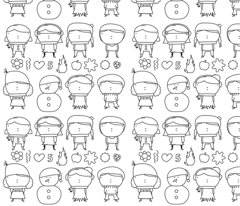winter pattern fabric by yaelfran on Spoonflower - custom fabric