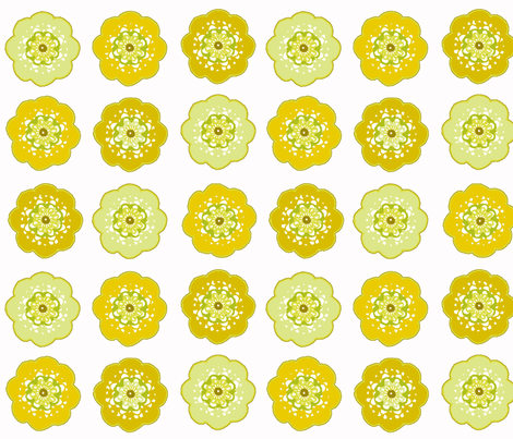 auricula_crochet_citrine fabric by lfntextiles on Spoonflower - custom fabric