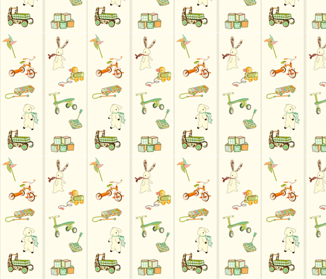 vintage toys fabric by thehandmadehome on Spoonflower - custom fabric