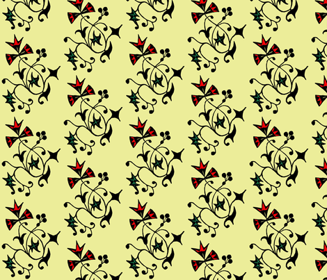 Vine, yellow fabric by nalo_hopkinson on Spoonflower - custom fabric