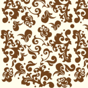 swirl damask brown
