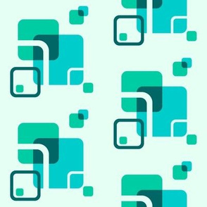 Stylized Flower - Blocks (teal)