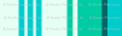 Stylized Flower - Stripe (teal)
